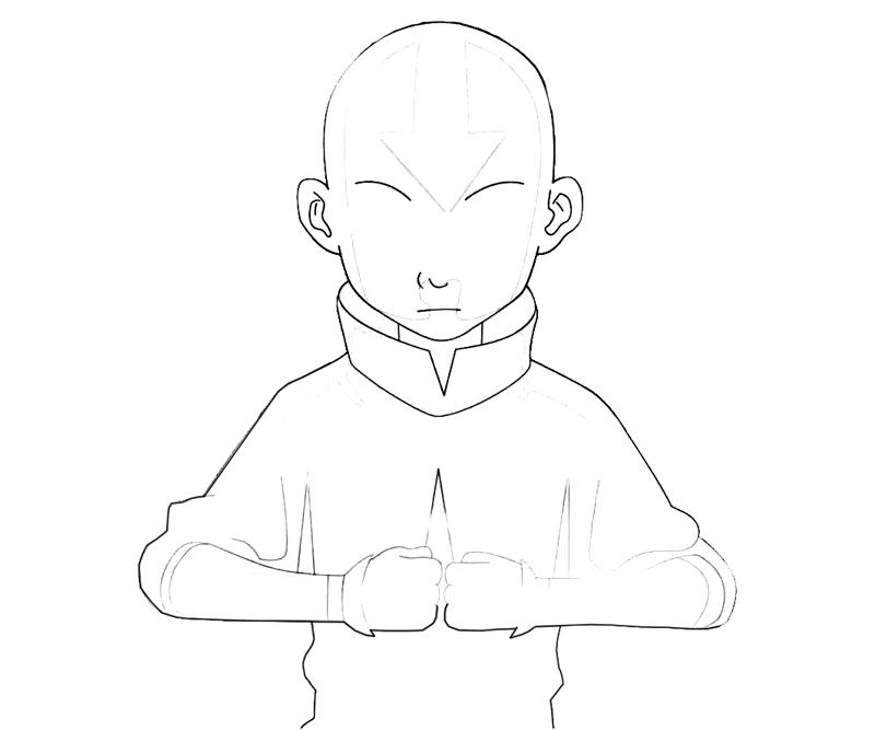 avatar-aang-power-coloring-pages