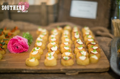 Rustic Grazing Table - Sour Cream and Chive Baby Potatoes - Gluten Free Catering Sydney