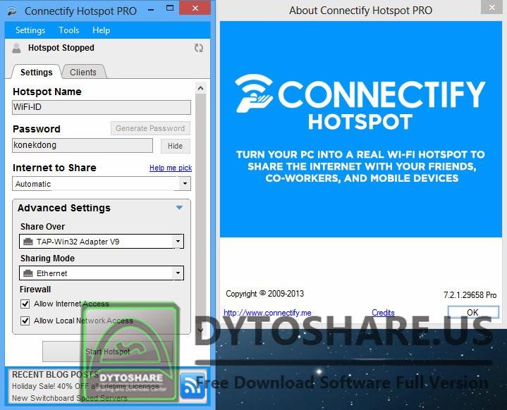 Connectify hotspot pro 3.6.0.24540 keygen
