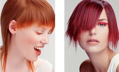 red hair color style trend for winter 2012