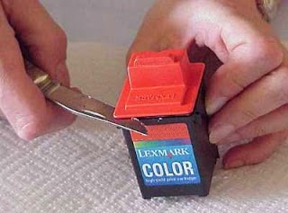 take out the color Lexmark cartridges