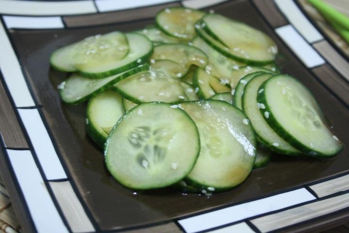Wasabi Cucumber Salad