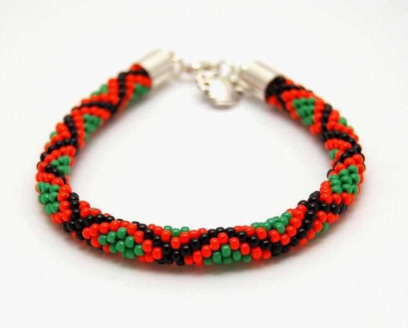 bransoletka koralikowa beaded crochet bracelet