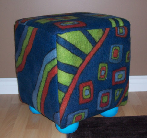 Cindy's Ottoman (Upholstery Fabric and Ottoman Building Tips)
