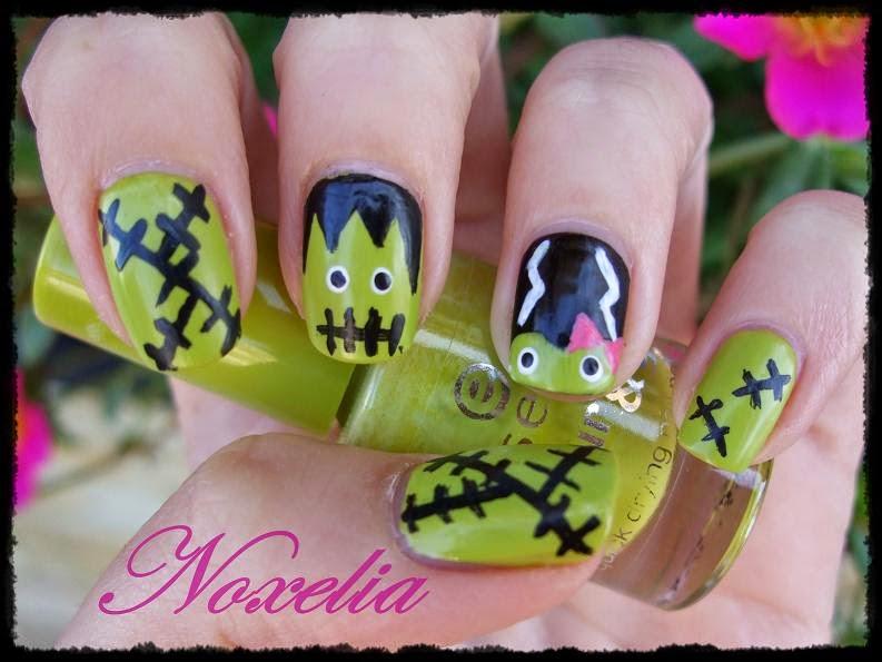 Noxelia: Stamping nail art: Look de uñas Nº 197. Halloween