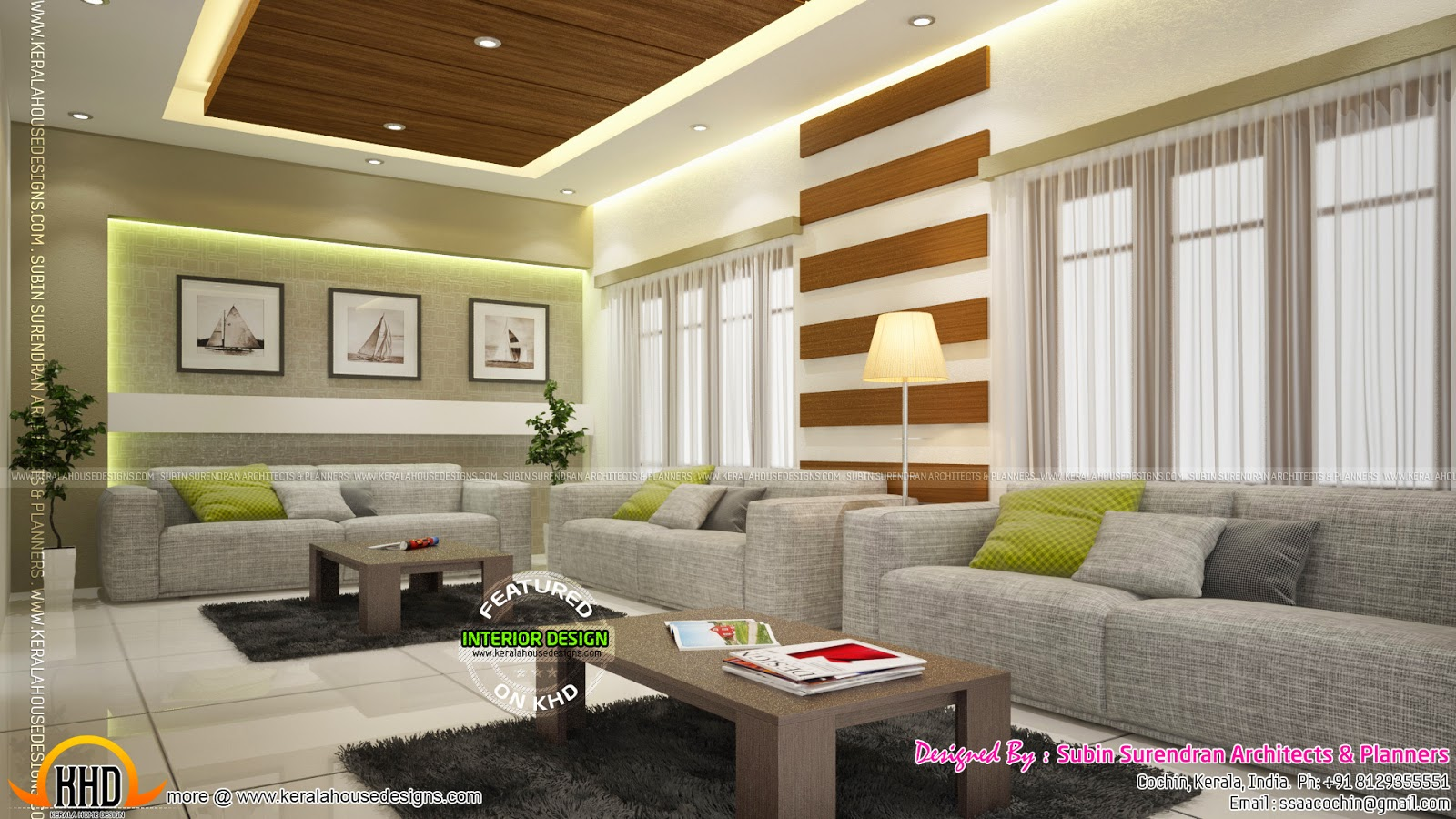 Beautiful home interior designs kerala home design and for Kerala house living room interior design