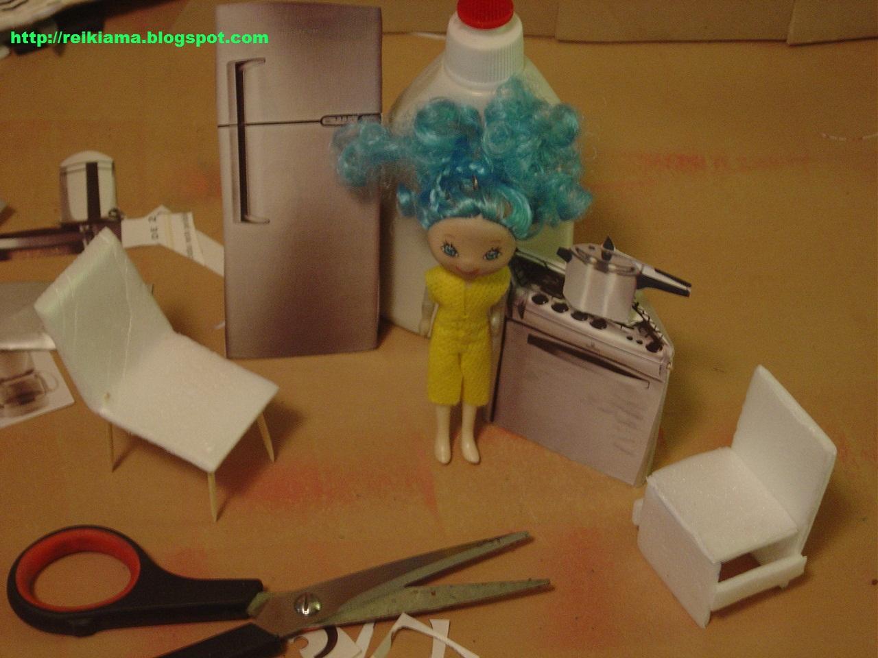 Populares Sucata magica: Casinha feita com caixa de papelão para Polly YT16