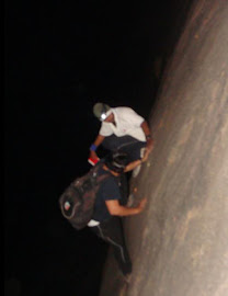 Mid Night Rock climbing