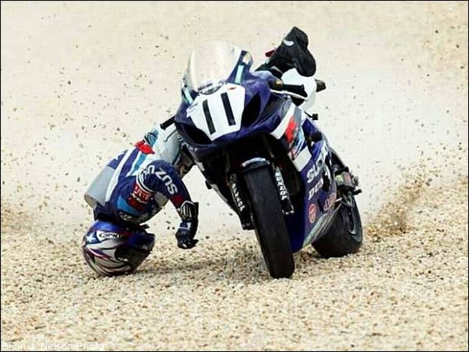 Moto Gp MotorBike Falls Wallpapers 2