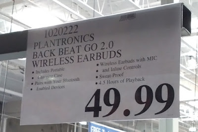Deal for the Plantronics BackBeat Go 2 Wireless Earbuds at Costco