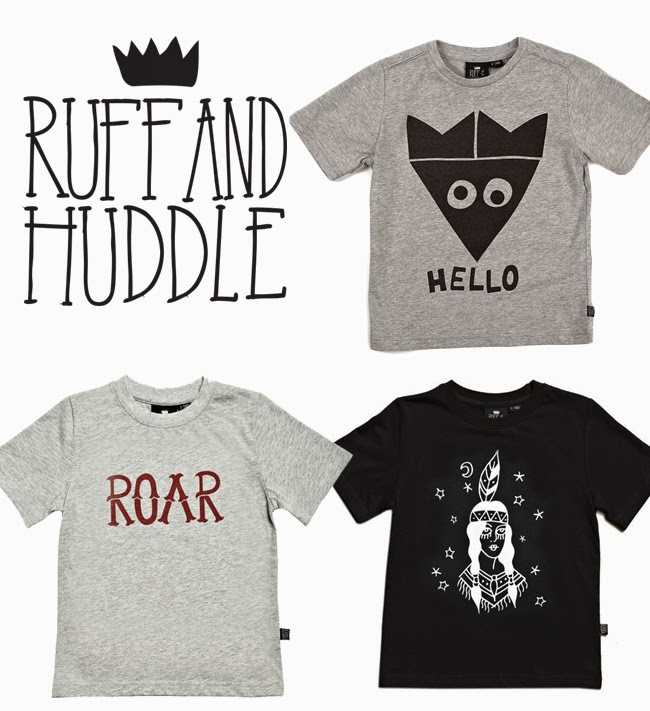 Graphic tees by Ruff and Huddle for spring 2014 kidswear collection