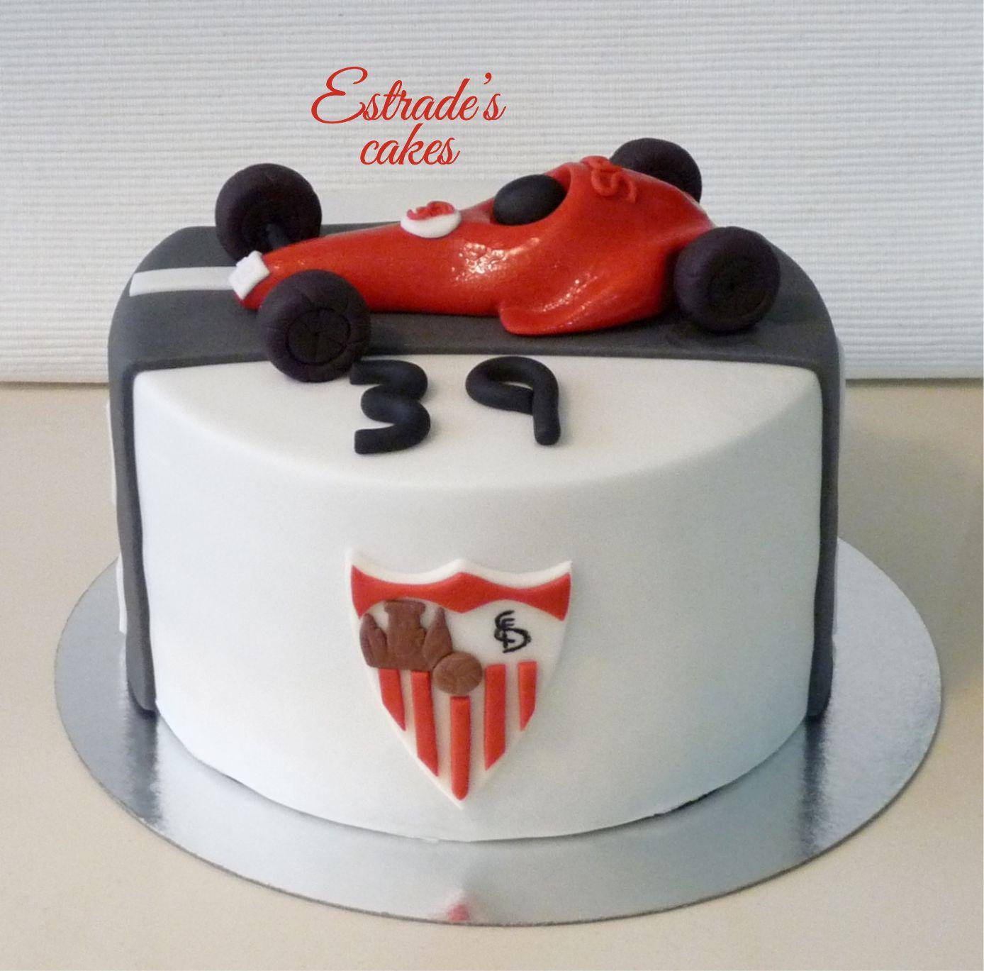 tarta del Sevilla FC y Formula 1 - 4