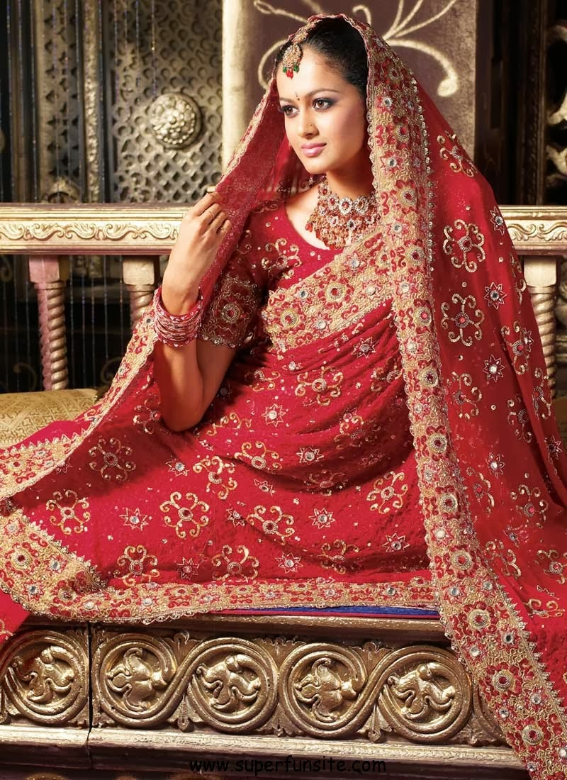 Fashion Plannet: indian wedding dress for bride red and gold colors