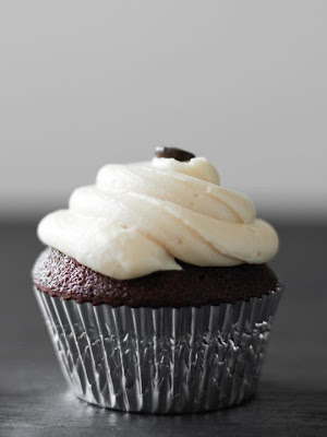 Always With Butter: Coffee Chocolate Cupcakes with Baileys Frosting
