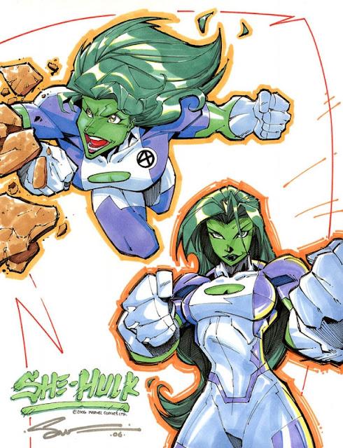 She Hulk Marker Designs por StevenSanchez