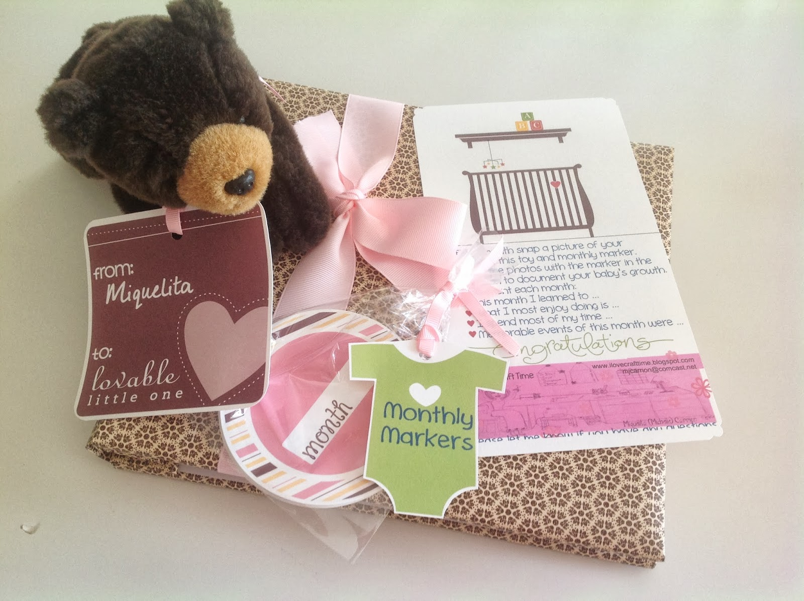 I Love Craft Time Stamp A Stack Reminder 922 And Baby Shower Gift