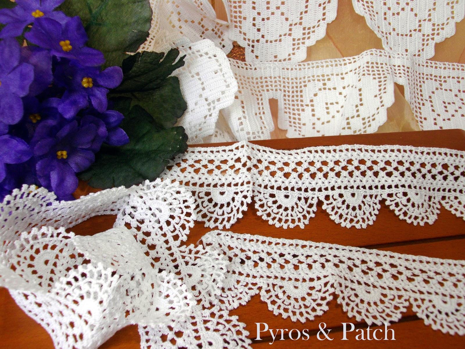 Pyros patch merletti crochet for Merletti uncinetto schemi