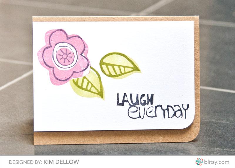 Layered stamp making card