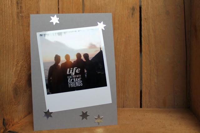 adventspost karte polaroid printic