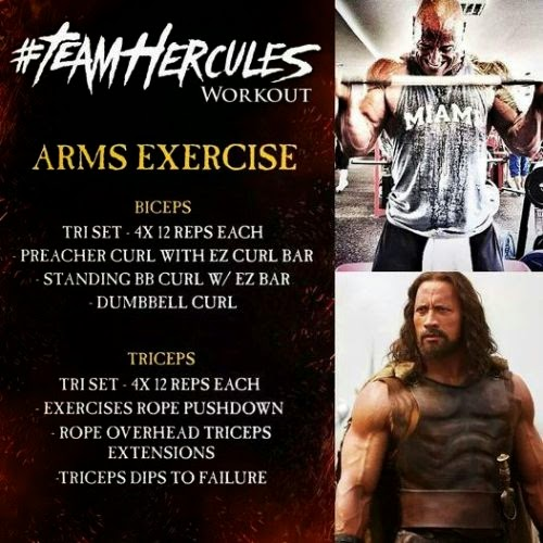 Dwayne Johnson Hercules Arms Workout routine