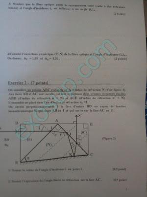 évaluation 1 optique géométrique s2