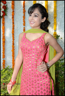 Disha Pandey Picture Gallery in Sleeveless Pink Salwar Kameez  0037