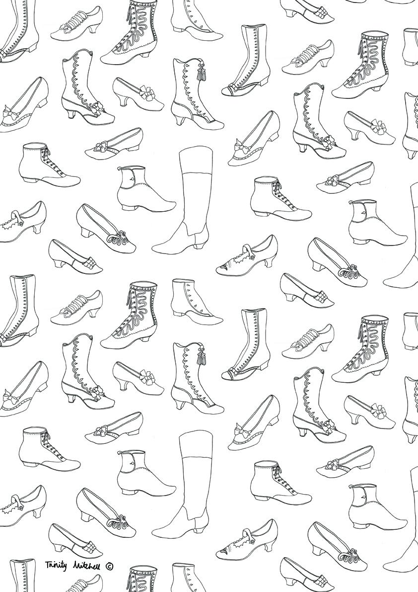 Easy To Draw Shoes  Easy To Draw Shoes Love Drawing Shoes