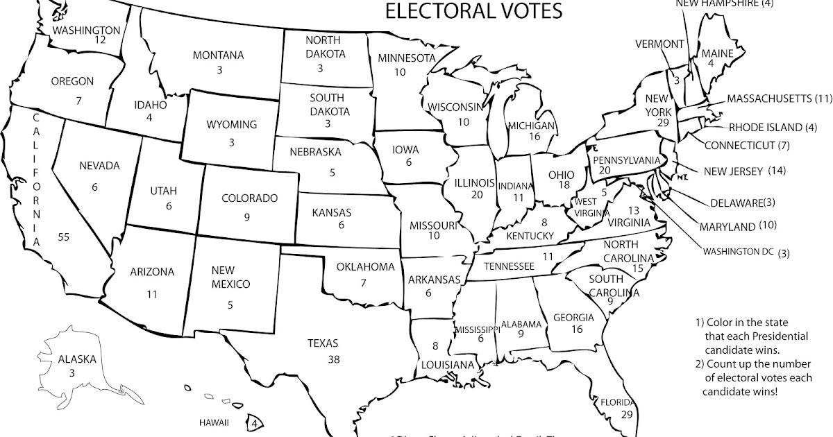 Us Map Electoral Votes - Us map electoral votes