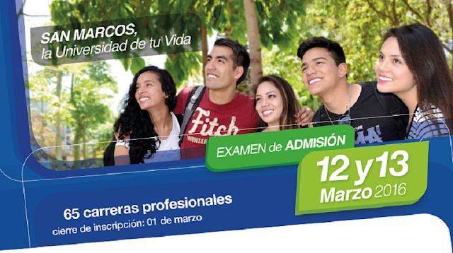 Examen de Admision Ordinario 2016-II UNMSM - El Cachimbo