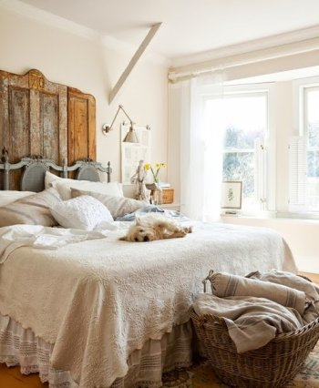 Inspiracion rustica en el dormitorio decoraci n - Decoracion rustica chic ...