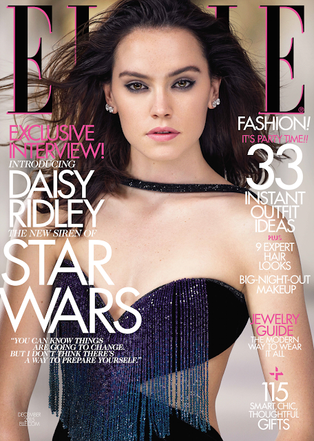 Actress @ Daisy Ridley by Mark Seliger for Elle US, December 2015