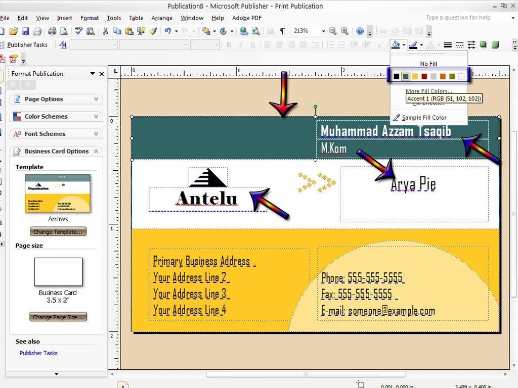Antelu: Cara membuat Kartu Nama atau Business cards Microsoft ...