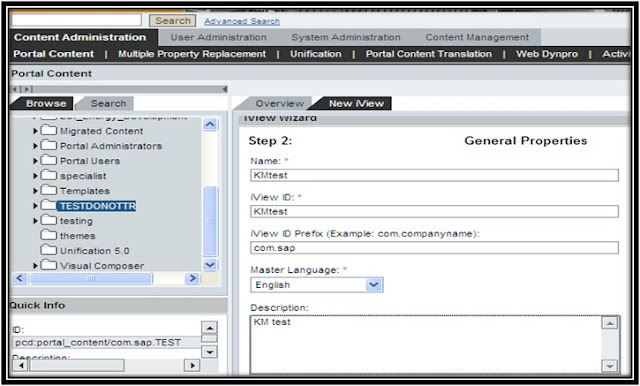 How to Create a KM Document Iview in SAP EP onlysapep.blogspot.in only sap ep  blogspot