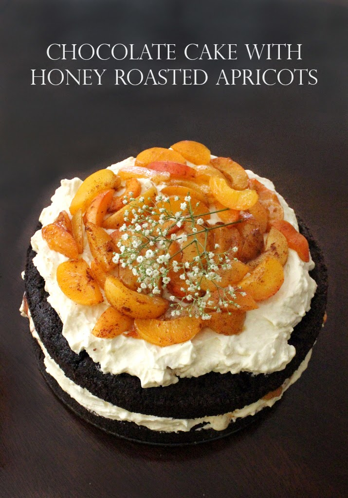 Sweet Helen Grace - Chocolate Cake with Honey Roasted Apricots - Sweet ...