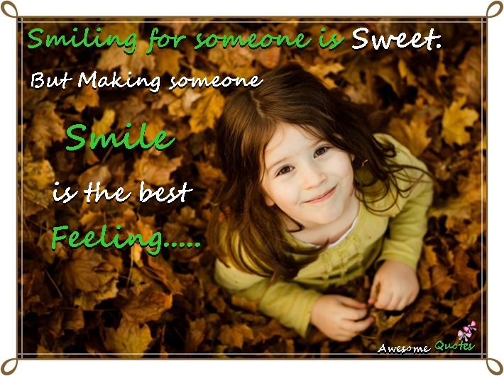 Smiling for someone is...