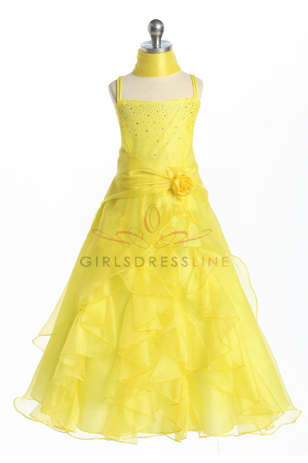 Yellow Flower Girl Dresses 11