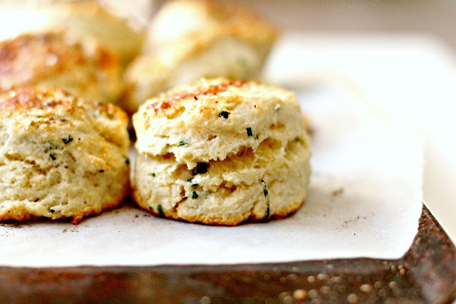 Milk and Honey: Goat Cheese, Chive and Mascarpone Scones