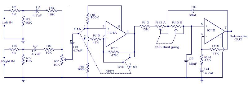 12V DC Car Simple Subwoofer Filter