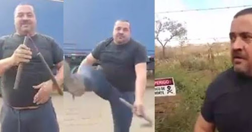 Caminhoneiro mostra que manja Kung Fu e se surpreende no final com inimigo oculto