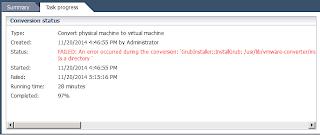 P2V Grub Install Error