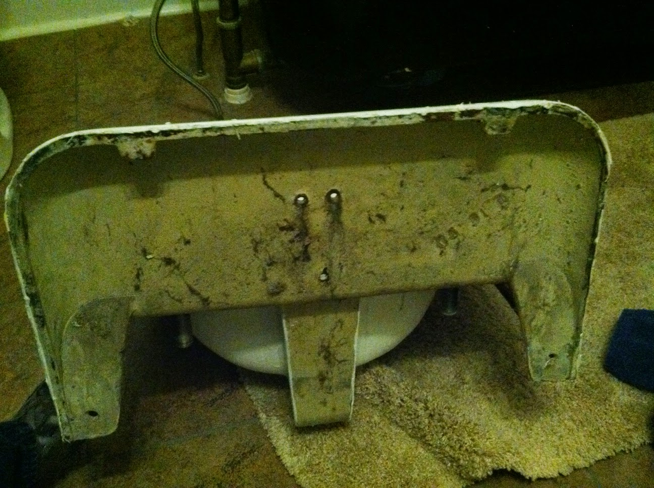 Back of old wall mount sink