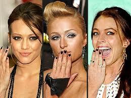 celebrity dark nail designs