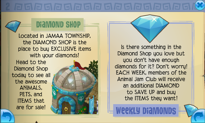 Animal Jam Diamonds Animal Jam is a game in which you can buy a ton of animals, pets, items and more. To do so, you are going to need the required amount of in-game currencies.