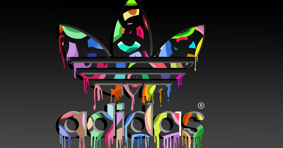Adidas Logo Abstract Coloring Logo Designs Wallpaper Hd