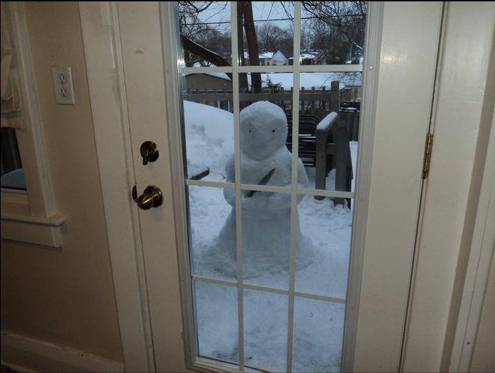A snow intruder.