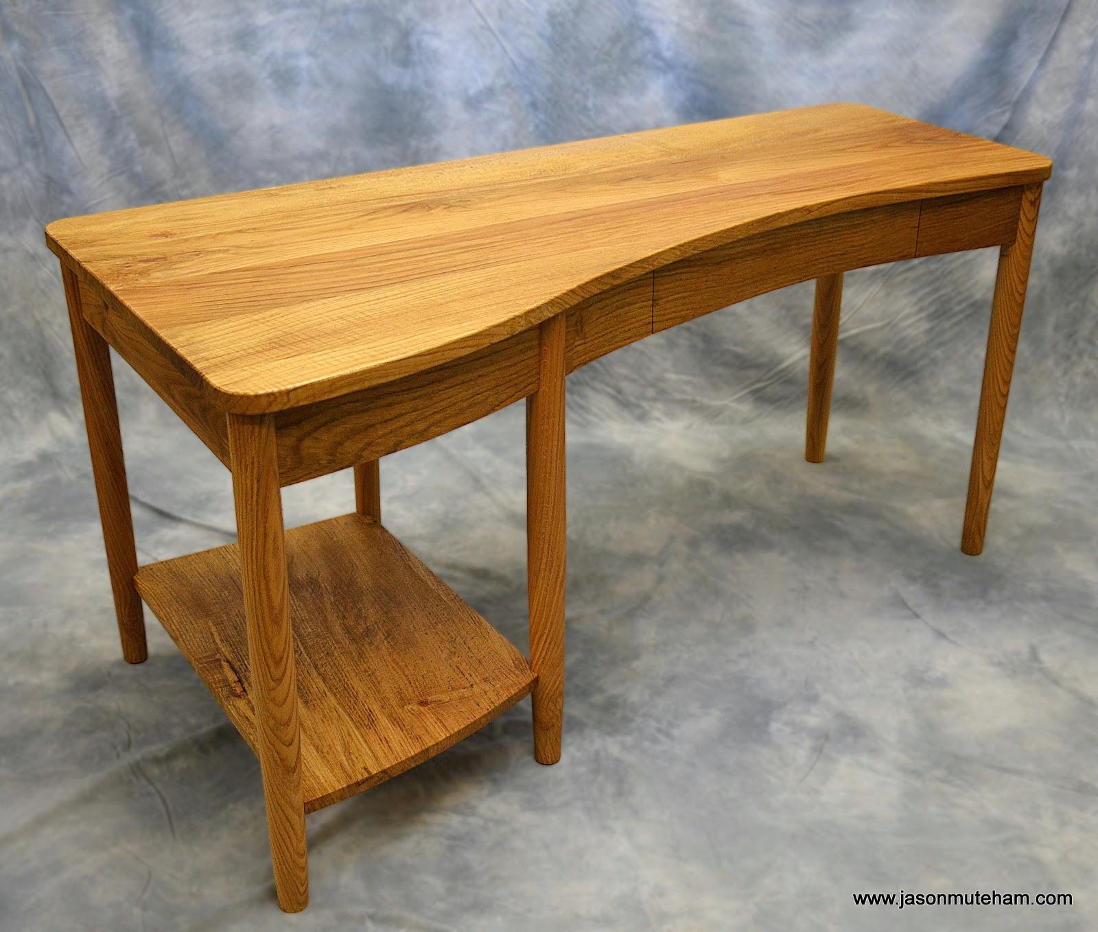 Bespoke Curvy Oak Desk
