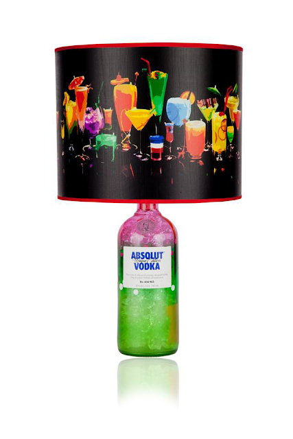absolut vodka lamp