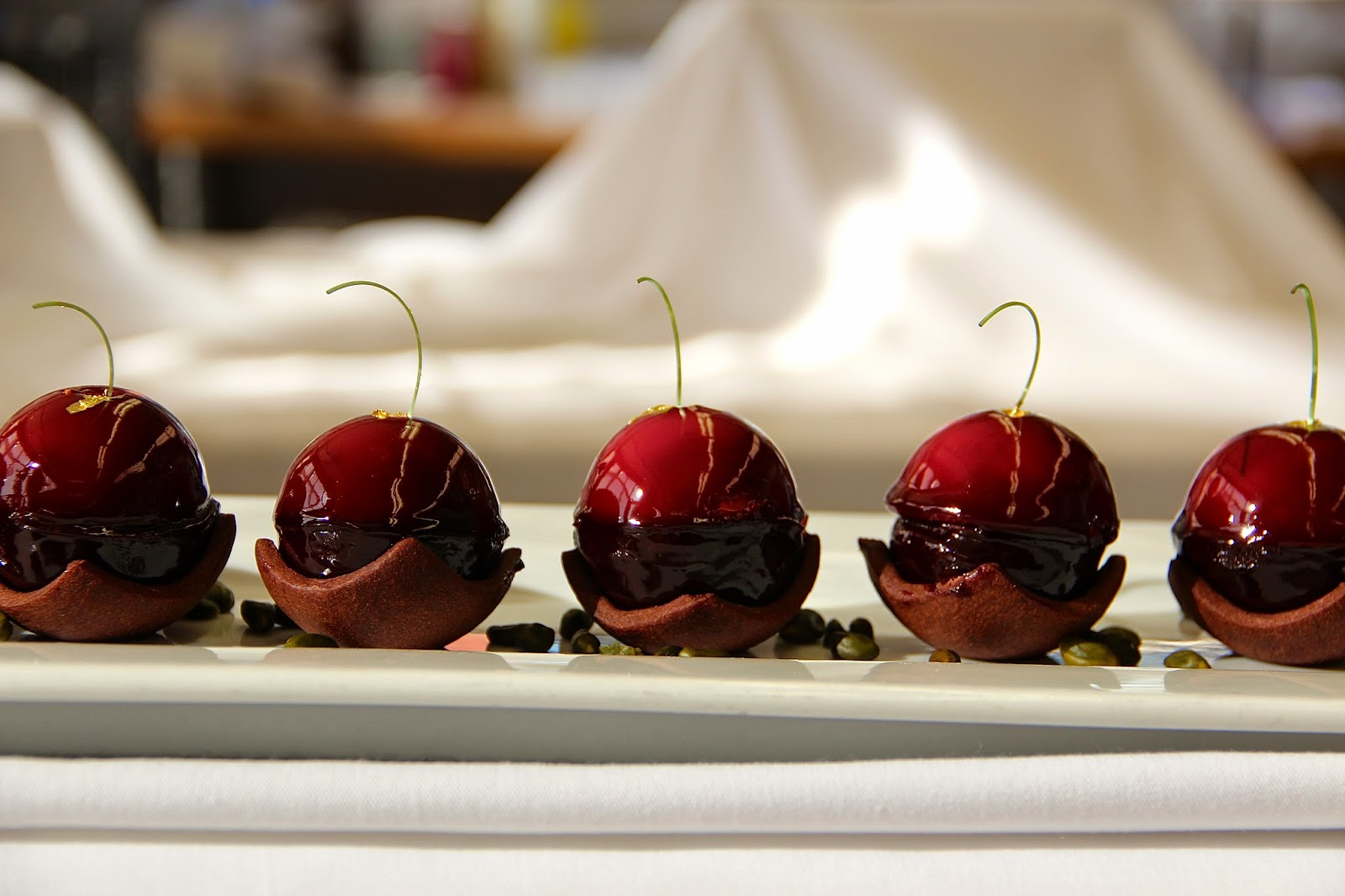"Cherry Tart "" – Rosemary Sour Cherry Compote, Chocolate Financier ..."
