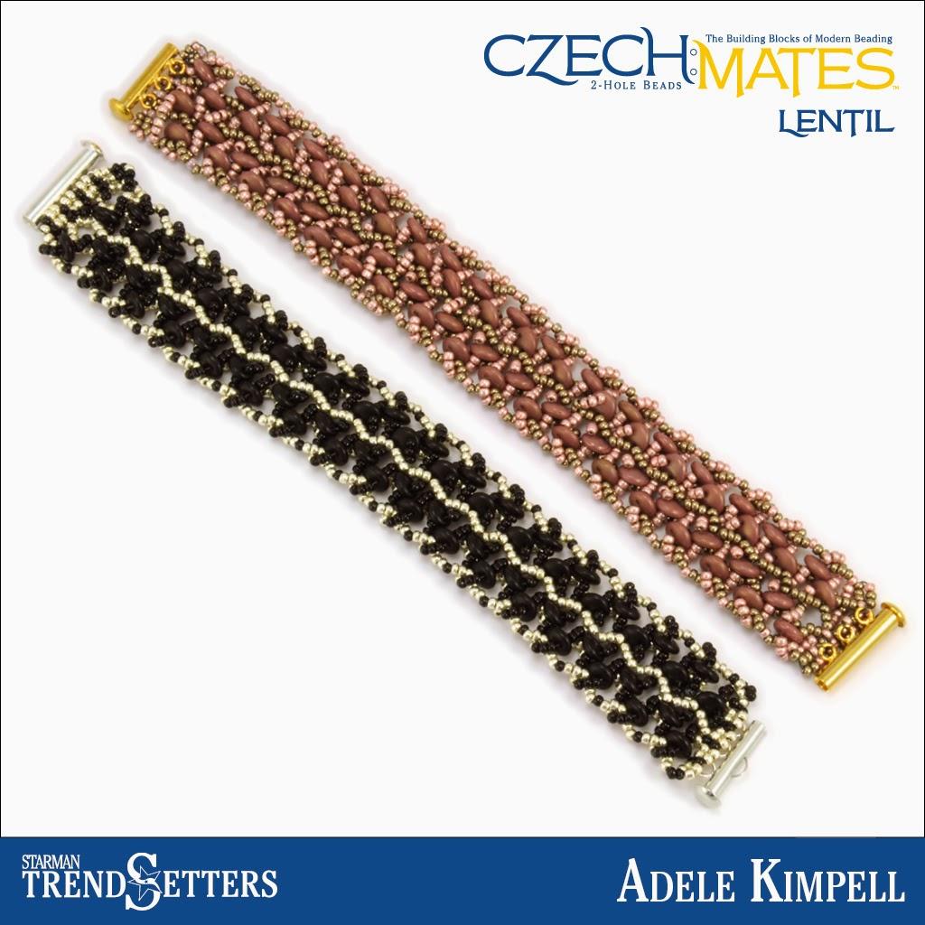 CzechMates Lentil bracelet by Starman TrendSetter Adele Kimpell