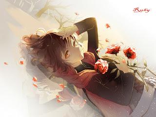 Ruby Rose RWBY Anime Red Rose Girl HD Wallpaper Desktop PC Background 1673
